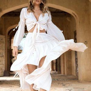 Spell Seashell Organic Ruched Skirt